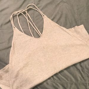 Silence & Noise Strappy Waffle Tank